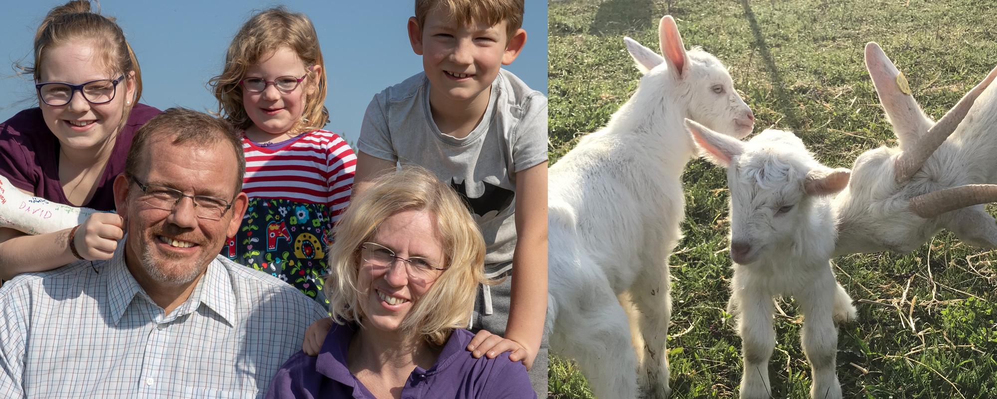 Familie Balon und Ihrer Ziegen von der Ebendorfer